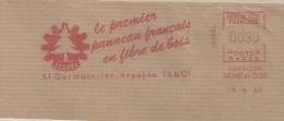 "Bois, Menuiserie, Panneau, France, ""Isorel"", Arpajon - EMA Secap   - Fragment 14 X 7 Cm  (M866) - Árboles"