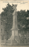 CPA 34 SAINT ANDRE DE SANGONIS MONUMENT AUX MORTS GROS PLAN - Unclassified