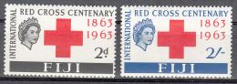Fiji   Scott No. 203-4   Unused Hinged   Year  1963 - Fiji (1970-...)