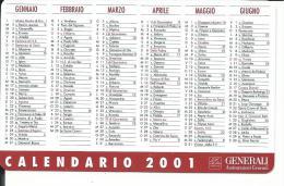 CAL649 - CALENDARIETTO 2001 - GENERALI ASSICURAZIONI - Calendarios