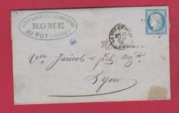 Facture Du Puy En Velay // Pour Lyon //  15 Novembre 1871 //  étab Rome - 1849-1876: Classic Period