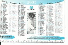 CAL665 - CALENDARIETTO 2001 - LEGA DEL FILO D'ORO - Calendarios