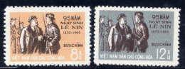 NORTH VIETNAM 1965 Lenin Birth Anniversary Set Of 2  MNH / (*).  Sc. 342-43 - Vietnam