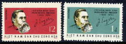 NORTH VIETNAM 1970 Engels Birth Anniversary Set Of 2  MNH / (*).  Sc. 611-12 - Vietnam