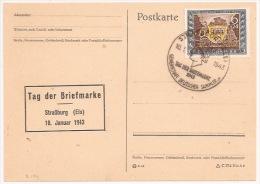 R199 - STRASSBURG - 1943 - Tag Der Briefmarke - Timbre Avec Surtaxe - Strasbourg - Bas Rhin - Journée Du Timbre - - Alsace-Lorraine