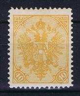 Österreichisch- Bosnien Und Herzegowina Mi. 19  Dunkel Orangegelb MH/* - 1850-1918 Imperium