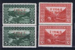 �sterreichisch- Bosnien und Herzegowina Mi. 89 + 90  einheit  MNH/** and MH/*,  Type I + II