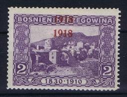 �sterreichisch- Bosnien und Herzegowina Mi 147 D, doppelter Aufdruck , MH/*
