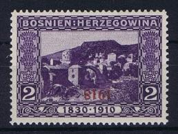 �sterreichisch- Bosnien und Herzegowina Mi 147 K Kopfstehender Aufdruck MH/*