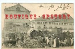 18 - BOURGES < Marché Aux Fleurs En 1900 - Dos Scanné - Bourges