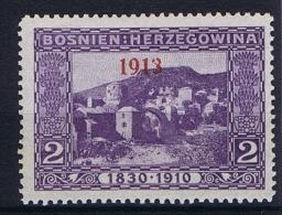 �sterreichisch- Bosnien und Herzegowina Mi 147 type I  MH/* 1913 staat 1918 , 1913 instead of 1918