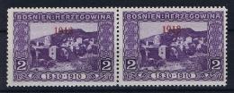 �sterreichisch- Bosnien und Herzegowina Mi 147 type I  MH/* 1913 staat 1918 , 1913 instead of 1918 + standard