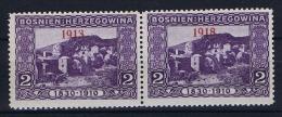 �sterreichisch- Bosnien und Herzegowina Mi 147 type I  MNH/**, fold,  1913 staat 1918 , 1913 instead of 1918 + standard