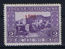�sterreichisch- Bosnien und Herzegowina Mi 147 type II , MH/* , 1918 mit schrager 1, tilted 1 of 1918