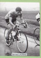 Bernard LAUNAIS, Autographe Et Note Du Coureur Au Dos. 2 Scans. ACBBB Cyclisme, 1965 - Cyclisme