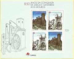 TIMBRES - STAMPS - PORTUGAL - 1997 - 850 ANS DE LA CONQUÊTE DE LISBONNE ET SANTAREM - BLOC-FEUILET - Blocks & Sheetlets