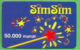 Azerbaijan GSM Prepaid - Azercell SIMSIM 50000 Manat /like UNC / - Azerbaïjan