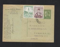 Bulgaria Stationery 1935 Uprated To Germany - 1909-45 Königreich