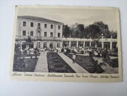 AK 1940 Abano Terme (Padova) Stabilimento Termale Due Torri (Propr. Adolfo Zanini) Echt Gelaufen Wien Mit Zensurstempel! - Padova (Padua)