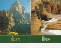 2 CPM 13X18  De ZION NATIONAL PARK - - Zion