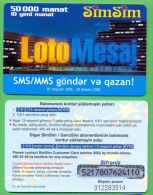 Azerbaijan GSM Prepaid - Azercell SIMSIM 50000 Manat /like UNC /