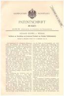 Original Patentschrift -  R. Herwig In Weimar , 1891 , Herstellung Von Fischmehl , Fisch , Fische !!! - Historische Dokumente