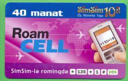 Azerbaijan GSM Prepaid - Azercell SIMSIM 40 Manat /like UNC /