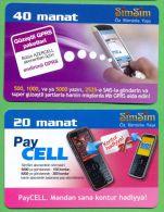 Azerbaijan GSM Prepaid - Azercell SIMSIM 20 40 Manat /like UNC / - Azerbaïjan