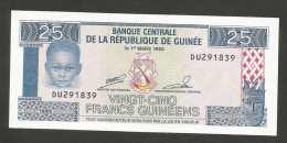 [NC] Guinée - BANQUE CENTRALE De La REPUBLIQUE De Guinée - 25 FRANCS (1985) - Guinea