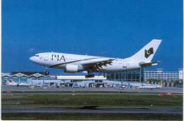 Thème -  Avion - McQuaide Aviation Postcards - BHX 72 Birmingham Airport Pakistan Aribus A310  - Limited Edition Of 500 - 1946-....: Moderne