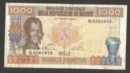 [NC] Guinée - BANQUE CENTRALE De La REPUBLIQUE De Guinée - 1000 FRANCS (1985) - Guinea