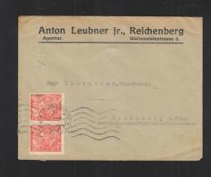 Czechoslovakia Cover Reichenberg To Germany - Czechoslovakia