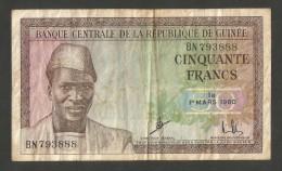 [NC] Guinée - BANQUE CENTRALE De La REPUBLIQUE De Guinée - 50 FRANCS (1960) - Guinea