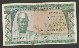 [NC] Guinée - BANQUE CENTRALE De La REPUBLIQUE De Guinée - 1000 FRANCS (1960) - Guinea