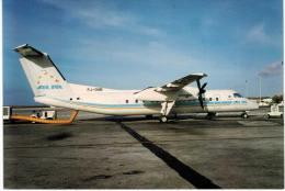 Thème -  Avion - Manche Postcard - M 140 Juil 96 - ALM ANTILLEAN AIRLINES DASH8 303 PJ DHB TUTURUTU - CURACAO  HATO - 1946-....: Moderne