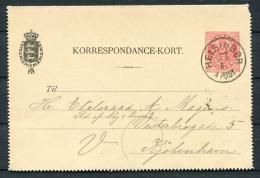 Denmark 8 Ore Stationery Korrespondence Kort Lettercard Helsingor - Copenhagen - Interi Postali