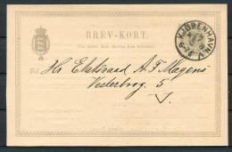 1892 Denmark Private Stationery Brev-kort Copenhagen Royalty Golden Wedding Celebrations - Interi Postali