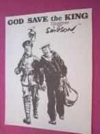 Dessin Caricaturiste-Satirique Humoristique Anglais Caricature Guerre  Alliés Illustré C. Simpson-God Save The King - 1939-45