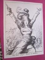 """.Dessin Caricaturiste-Satirique Humour Propagande Antiallemande Guerre 14-18 Illustré A. Roubille"""" La Marseillaise""""aux A - 1914-18"""