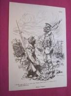 .Dessin Caricaturiste-Satirique Humour Propagande Antiallemande Guerre 14-18 Illustrateur Louis Morin-masques Tragiques - 1914-18