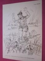 .Dessin Caricaturiste-Satirique Humour Propagande Antiallemande Guerre 14-18 Illustrateur Louis Morin-l'honnête Boche: J - 1914-18