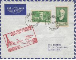 Ligne Postal Aérienne Paris - Nice, Inauguration 16 Février 1938 - Poste Aérienne