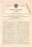 Original Patentschrift - Ernst Lehmann In Fockendorf , 1897 , Marmorierung Von Papier , Papiermaschine , Pleißenaue !!! - Historische Dokumente