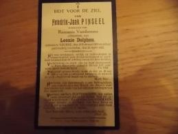 Doodsprentje Hendrik Jaak Pinseel Veurne 18/2/1859 - 26/4/1922 ( Romani Vandamme En Leonie Dolphen) - Religión & Esoterismo