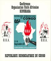 CONGO - 1967 - Mi BL. 12 - 4th MEETING OF THE ORG. FOR AFRICAN UNITY - MNH ** - Repubblica Democratica Del Congo (1964-71)