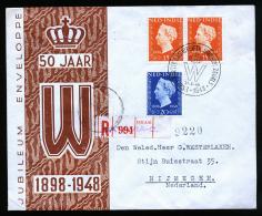 A2539) Netherlands Indies Registered Cover From 08/31/1948 To Nijmegen - Niederländisch-Indien