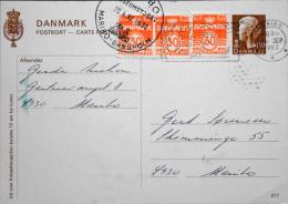 Denmark  1982 Postal Stayionery Maribo 29-9-1982 ( Lot 2554 ) - Enteros Postales