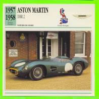ASTON MARTIN, 1957 - DBR 2, VOITURE DE COURSE - FICHE COMPLÈTE DE LA VOITURE À L´ENDOS DE LA CARTE - - Voitures