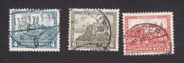 Germany, Scott #B44-B46, Used, Wartburg Castle, Stolzenfels Castle, Nuremberg Castle, Issued 1932 - Germany