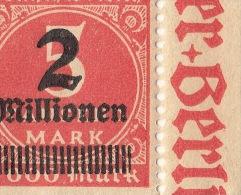 Drei Teilbogen 312 1923 Drei Mal Dieselbe Abart Auf Dem 30sten Briefmarke Des Bogen Nr 5 - Germany